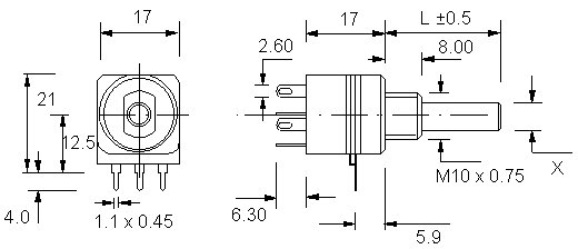 Eco Rotary Switch Dimensions
