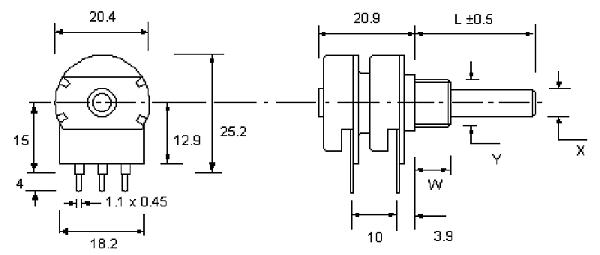 P20 2 Gang dimensions