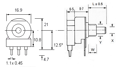 P16 IL switch dimensions