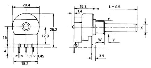 P20 IL switch dimensions